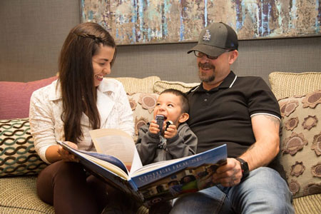 Fisher House Southern California Parents reading story